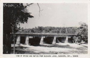 RP; BUCKHORN , Ontario , 30s-40s; View of Bridge and Rapids from Buckhorn Lodge