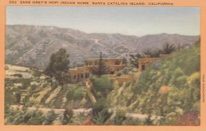 SANTA CATALINA ISLAND, California, 1930-40s; Zane Grey's Hopi Indian Home