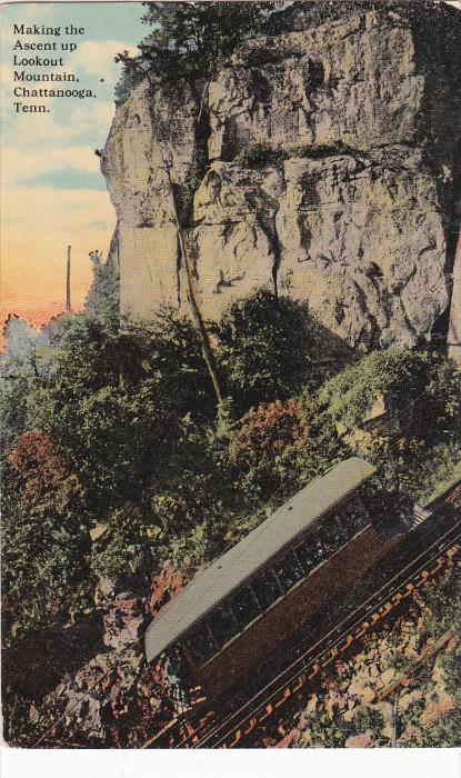 CHATANOOGA, Tennessee, 1900-1910's; Making The Ascent Up Lookout Mountain Cha...