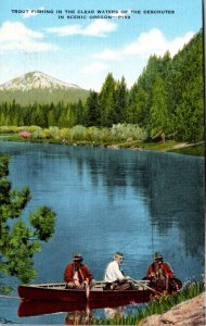 Oregon Trout Fishing In The Clear waters Of The Deschutes