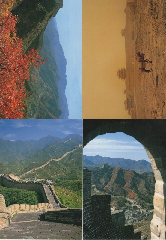 The Great Wall Dynamic Landscape Views 4x China Postcard s