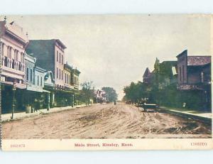 Divided-Back STREET SCENE Kinsley - Near Dodge City & Great Bend KS hp3256