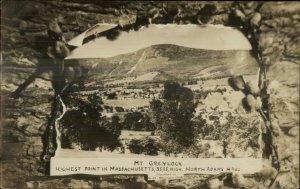 North Adams MA Mt. Greylock c1910 Unused Real Photo Postcard