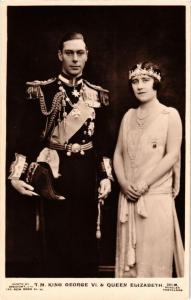 CPA King George VI Queen Elizabeth BRITISH ROYALTY (678505)