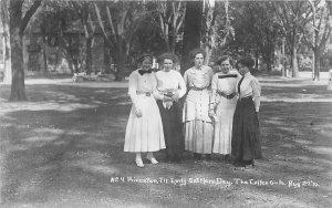 H13/ Princeton Illinois RPPC Postcard c1910 Early Settlers Day Coffee Girls