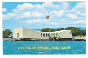 Hawaii USS Arizona Memorial Pearl Harbor Vtg Postcard