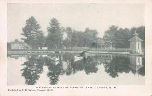 Gatehouse at Head of Penacook Lake, Concord, N.H., Early Postcard, Unused