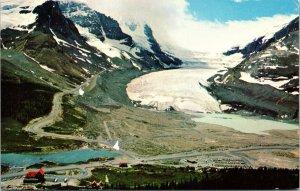 Columbia Ice Fields and Chalet Banff-Jasper Highway Canada Postcard unused 1960s