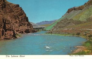 Vintage Postcard Geological Formations Along The Famous Salmon River Idaho ID