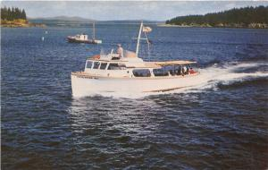 Bar Harbor Maine~Frenchmans Bay Boating Company Boat Frenchmans Bay~c1960 Pc