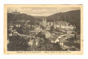 Abbaye, Eglise Et Ruines Du Chateau, Clervaux, Luxembourg, PU-1920