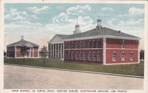 LA JUNTA, Colorado, 1900-10s; High School with Auditorium