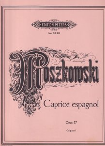 Moszkowski Caprice Espagnol Opus 37 Classical Piano Sheet Music Book