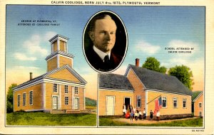 VT - Plymouth. Church & School attended by President Coolidge