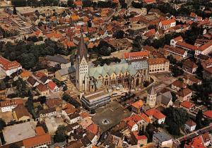 Paderborn Rund um den Dom Cathedral Aerial view