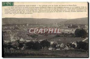 Old Postcard Villeneuve sur Yonne General view taken from the western coast o...