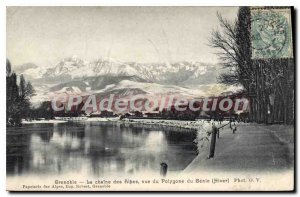 Old Postcard Grenoble La Chaine Des Alpes View From Polygon From Genie