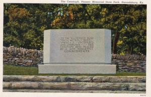 Kentucky Harrodsburg The Cenotaph Pioneer State Park Curteich