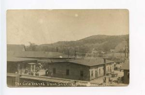 White River Junction VT Railroad Station Train uu Depot RPPC Real Photo Postcard