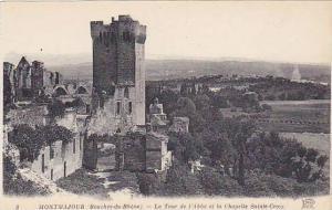 La Tour De l'Abbe Et La Chapelle Sainte-Croix, Montmajour (Bouches du Rhône)...