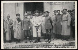 Germany WWI Generals Staff Grodno Poland GGov Occupation  RPPC 73104
