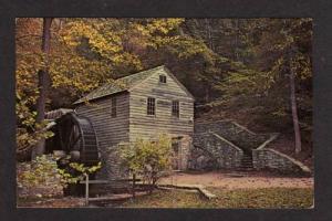 TN Grist Mill Water Wheel TENNESSEE TENN Postcard PC