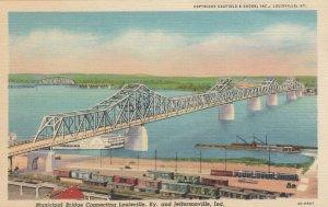 LOUISVILLE, KY, 30-40s ; Municipal Bridge Connecting Louisville to Jefferson, IN
