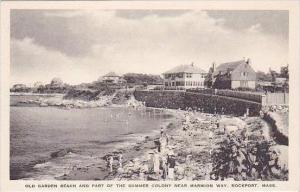 Massachusetts Rockport Old Garden Beach &  Summer Colony Albertype