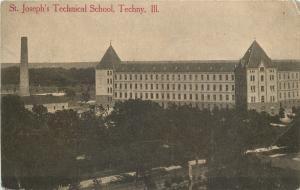 Techny Illinois~St Joseph's Technical School~1910 B&W Postcard