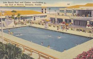 Lido Beach Casino & Pool, Swimming Pool, Overlooking The Gulf Of Mexico, Sara...