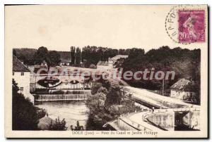 Old Postcard Dole Canal Bridge And Garden Philippe