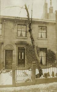 UK, Yorkshire, Unknown Village near Huddersfield, House 15 West Hill 1909 RPPC