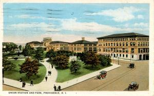 RI - Providence.  Union Station and Park