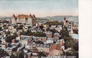 Birdseye View Of The Capitol And Albany New York