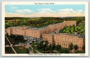 French Lick Indiana~Birdseye French Lick Springs Hotel Property & Grounds~1940s