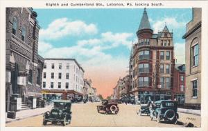 Eight & Cumberland Streets , LEBANON , Pennsylvania , 1910s