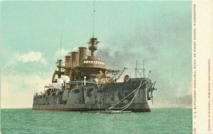 C-1905 Navy Military great White Fleet USS Battleship Nebraska Postcard 21-5103