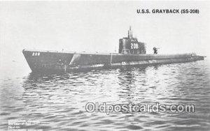 USS Grayback SS208 Lost WWII Unused