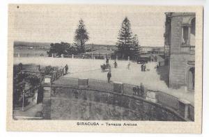 Italy Sicily Siracusa Terrazza Arelusa Vintage Postcard