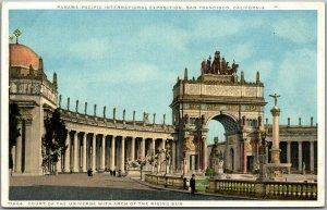 1915 PPIE San Francisco WF Expo Postcard COURT OF THE UNIVERSE Detroit Pub.