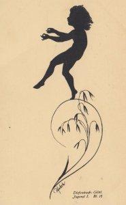 DIEFENBACH : Fantasy Silhouette , 00-10s ; Jugend I. Blatt. 12 ; Tan paper