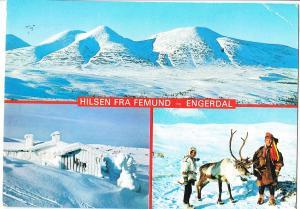 Norway, Norge, HILSEN FRA FEMUND - ENGERDAL, 1984 used Postcard