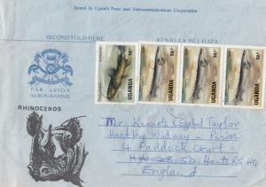 Uganda Rhinoceros 1980s African Envelope