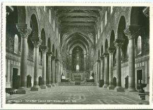 MONREALE, Interno della Cattedrale, Interior of the Cathedral, unused real photo