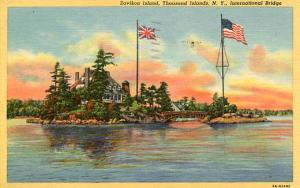 NY - Thousand Islands. Zavikon Island International Bridge