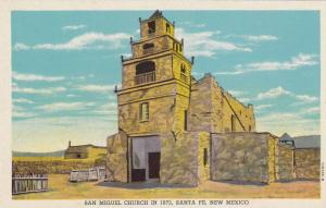 Exterior, San Miguel Church, Santa Fe, New Mexico,40-60s