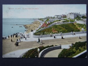 Essex CLACTON ON SEA West Cliff c1920's Old Postcard by Valentine