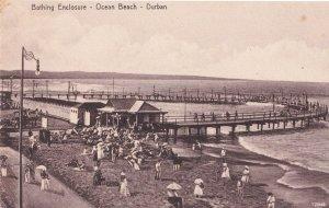 Antique Streetlamp Bathing Enclosure Durban Postcard