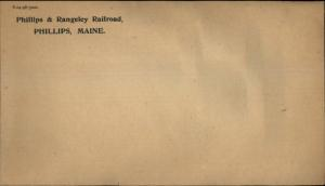 Phillips & Rangeley Railroad Phillips ME Envelope 1896