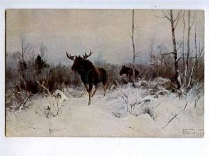 204579 RUSSIA Burkhardt Moose HUNT Granberg #561 old